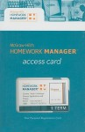 Homework Manager Passcode Card to accompany Finance - Marcia Cornett, John R. Nofsinger, Troy Adair