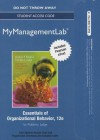 New Mymanagementlab with Pearson Etext -- Access Card -- For Essentials of Organizational Behavior - Stephen P. Robbins, Timothy A. Judge