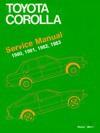 Toyota Corolla Service Manual, 1980, 1981, 1982, 1983 - Bentley Publishers