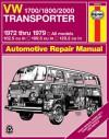 VW Transporter 1700, 1800 and 2000, 1972-1979 - John Haynes, John Haynes