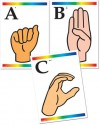 Sign Language Learning Cards with Braille - Instructional Fair