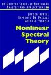Nonlinear Spectral Theory - Espedito De Pascale, Alfonso Vignoli, Jürgen Appell