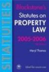 Statutes on Property Law 2005-2006 - M. Thomas