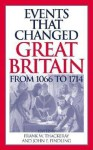 Events That Changed Great Britain from 1066 to 1714 - Frank W Thackeray, John E Findling