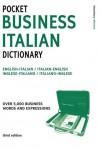 Pocket Business Italian Dictionary 3ed - A & C Black