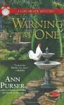 Warning at One - Ann Purser