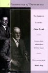 A Psychology of Difference: The American Lectures - Otto Rank