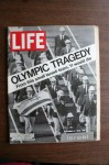 """Life Magazine September 15, 1972 Cover: """"Olympic Tragedy, From This Small Israeli Team, 11 Would Die."""" (73) - Life Magazine, Ralph Graves"""