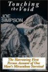 Touching The Void: The Harrowing First Person Account Of One Man's - Joe Simpson, Stuart Langton