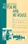 Sinclair Ross's As for Me and My House: Five Decades of Criticism - David Stouck