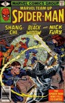 Marvel Team-up: Spiderman, Shang Chi, the Black Widow, and Nick Fury: The Spider-man Who Fell to Earth! (0714860214709, Vol. 1, No. 85, September 1979) - Stan Lee, Chris Claremont, Allen Milgrom, Jim Shooter, Marvel Comics Group, Comics Code Authority, Sal Buscema, Steve Leialoha, Clem Robins, Ben Sean