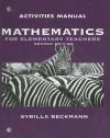 Mathematics for Elementary Teachers, Activities Manual Second Edition [[Paperback] 2008] - Sybilla Beckmann