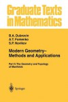 Modern Geometry Methods and Applications: Part II: The Geometry and Topology of Manifolds - B.A. Dubrovin, A.T. Fomenko, S.P. Novikov, R G Burns