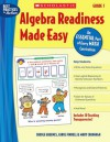Algebra Readiness Made Easy: Grade 1: An Essential Part of Every Math Curriculum - Mary Cavanagh, Carole E. Greenes, Carol Findell