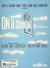 On a Clear Day You Can See Forever - Alan Jay Lerner, Burton Lane