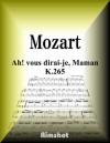 MOZART AH VOUS DIRAI JE MAMAN K265 FOR PIANO SOLO (Japanese Edition) - Wolfgang Amadeus Mozart, Rimshot