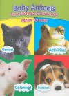 Baby Animals Coloring and Activity Books Cat/Frog/Pig/Dog Cover - Modern Publishing