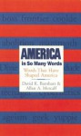 America in So Many Words: Words That Have Shaped America - Allan Metcalf