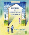 Methods in Behavioral Research with Powerweb - Paul C. Cozby