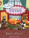The Diva Runs Out of Thyme: A Domestic Diva Mystery - Krista Davis, Hillary Huber