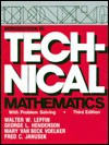 Introduction to Technical Mathematics: With Problem Solving - Walter W. Leffin, George L. Henderson