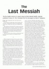 The Last Messiah - Peter Wessel Zapffe, Gisle R. Tangenes