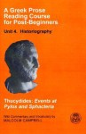 Events at Pylos and Sphacteria (A Greek Prose Reading Course for Post-beginners) - Thucydides