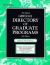 The Official GRE CGS Directory of Graduate Programs - Educational Testing Service, Thomas, ETS