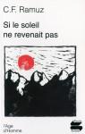 Si le Soleil ne Revenait pas - Charles-Ferdinand Ramuz