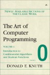 The Art of Computer Programming, Volume 4, Fascicle 0: Introduction to Combinatorial Algorithms and Boolean Functions - Donald Ervin Knuth