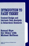 Introduction to Facet Theory - Samuel Shye, Dov Elizur, Michael Hoffman