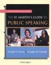 Workbook to Accompany the St. Martin's Guide to Public Speaking - Tuman Fraleigh, Douglas M. Fraleigh, Joseph S. Tuman, Tuman Fraleigh