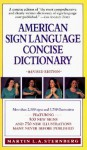 American Sign Language Concise Dictionary - Martin L.A. Sternberg, Herbert Rogoff
