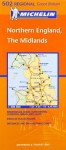 Midlands, The North (Michelin Regional Maps) - Michelin Travel Publications