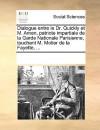 Dialogue Entre Le Dr. Quickly Et M. Amen, Patriote Impartiale de La Garde Nationale Parisienne, Touchant M. Motier de La Fayette, ... - Various