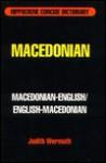 Macedonian-English/Englisg-Macedonian Concise Dictionary - Davidovic Mladen