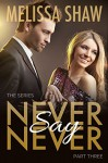 Never Say Never, Part Three (Second Chance Contemporary Romance, Book 3) - Melissa Shaw