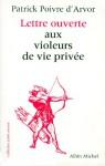Lettre ouverte aux violeurs de vie privée - Patrick Poivre d'Arvor