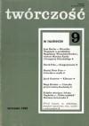 Twórczość, nr 9 (646) / 2000 - Darek Foks, Marcin Kurek, Jean Racine, Redakcja miesięcznika Twórczość