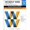 Wordly Wise 3000 Teacher's Resource Book 4, 3rd Edition - Kenneth Hodkinson, Sandra Adams