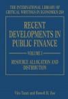 Recent Developments in Public Finance - Vito Tanzi
