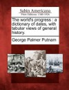 The World's Progress: A Dictionary of Dates, with Tabular Views of General History - George Palmer Putnam