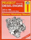 Peugeot 504 And 505 Diesel 1974 90 Owner's Workshop Manual (Service & Repair Manuals) - Ian Coomber