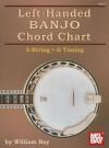 Left-Handed BANJO Chord Chart: 5-String - G Tuning - William Bay