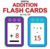 Digital Addition Flash Cards in Color (Ordered and Shuffled 1-9) - Chris McMullen, Carolyn Kivett