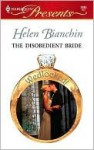 The Disobedient Bride - Helen Bianchin