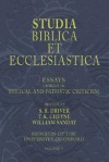 Studia Biblica Et Ecclesiastica, 5 Volumes: Essays In Bible, Archaeology And Patristic Criticism - Samuel R. Driver, Thomas Kelly Cheyne