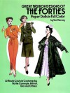 Great Fashion Designs of the Forties Paper Dolls: 32 Haute Couture Costumes by Hattie Carnegie, Adrian, Dior and Others - Tom Tierney