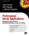 Professional Struts Applications: Building Web Sites with Struts Objectrelational Bridge, Lucene, and Velocity - John Carnell, Jeff Linwood