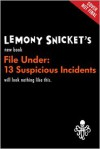 File Under: 13 Suspicious Incidents (Audio) - Seth, Lemony Snicket
